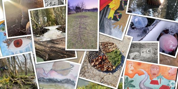Collage aus den Werken der Kunstausstellung